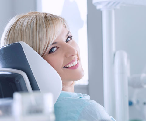 young woman at the dental clinic